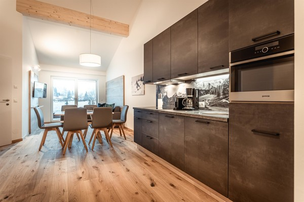 Spacious kitchens in all apartments
