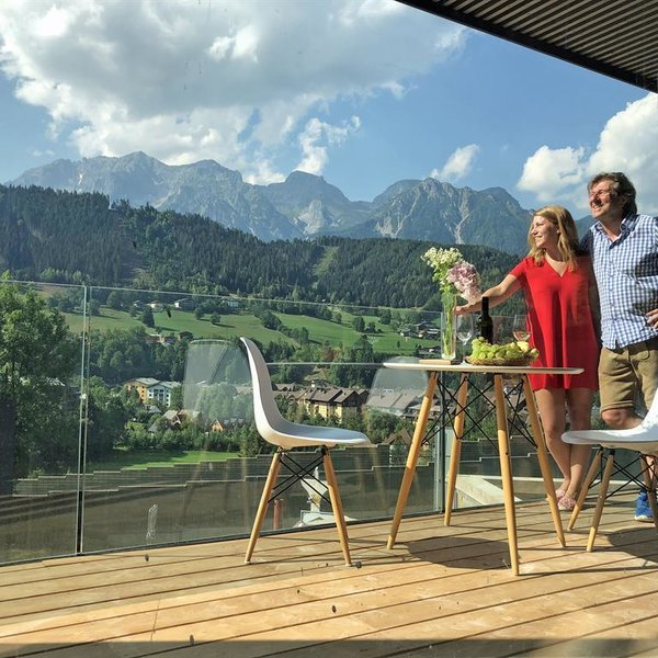 Chalets Coburg with fantastic Dachstein view