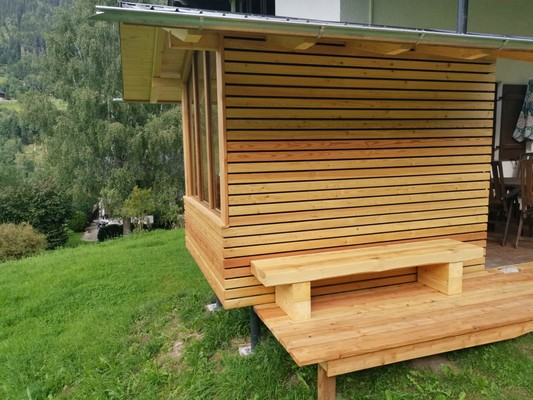 Outdoor sauna - directly in front of the house