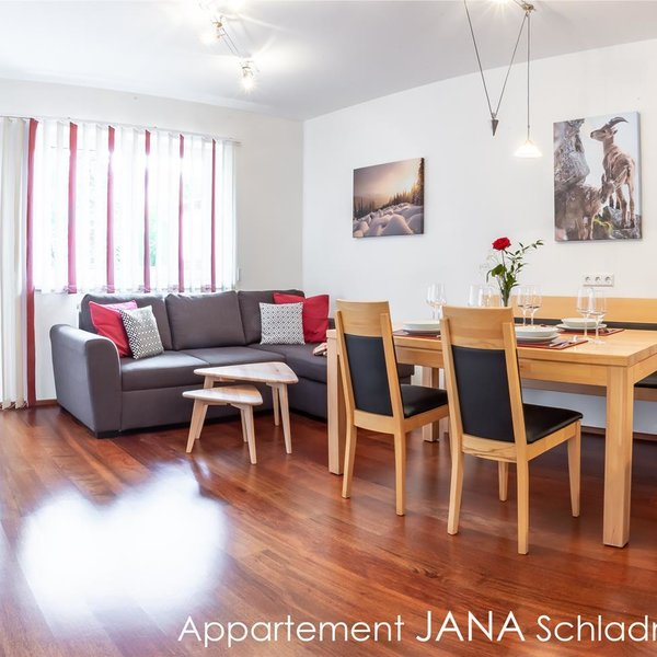 Eat-in kitchen with sofa and dining table - App. Jana